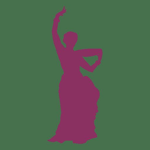 Bailarina del vientre bailando silueta Transparent PNG