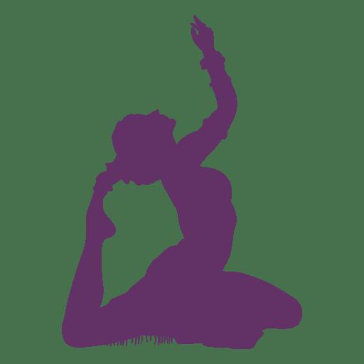 Silueta de piso de bailarina de danza del vientre