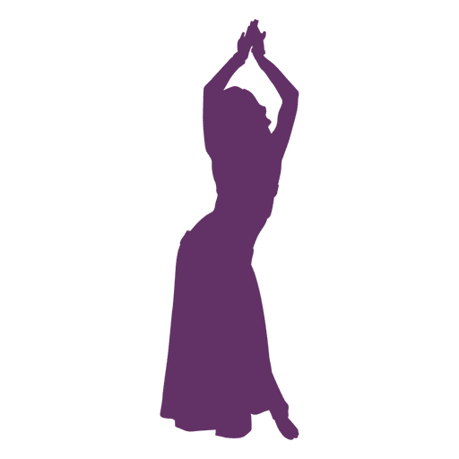 Belly dancer hands up silhouette