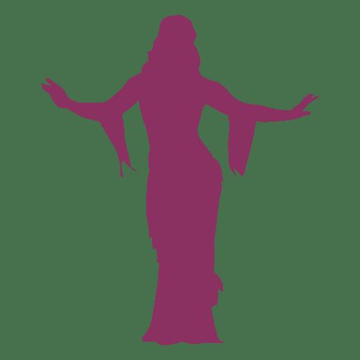 Belly dancer hip lift silhouette