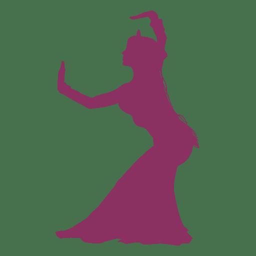 Bailarina del vientre pose silueta Transparent PNG