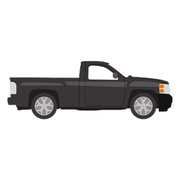 Black pickup illustration