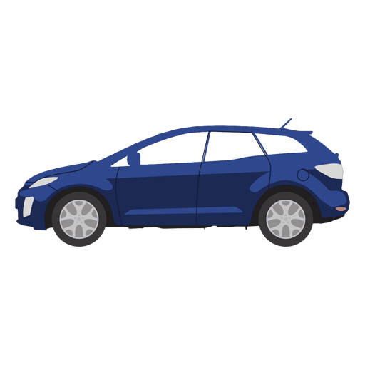 Blue hatchback illustration Transparent PNG