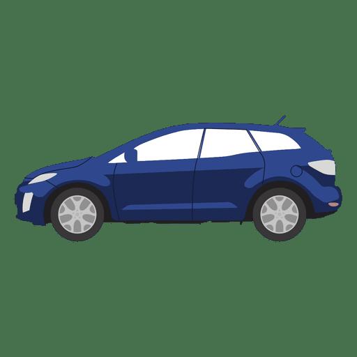 Ilustración de hatchback azul
