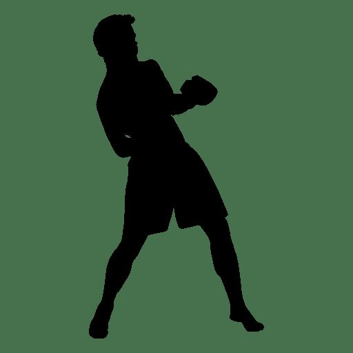 Jugador de boxeo esquivar silueta Transparent PNG