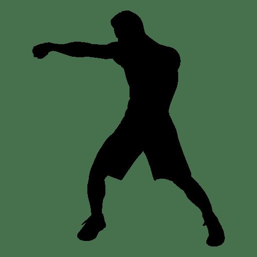 Jugador de boxeo golpe silueta Transparent PNG
