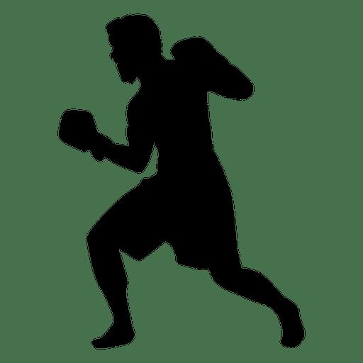 Jugador de boxeo uppercut silueta Transparent PNG