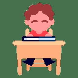 Menino, leitura, ilustração