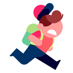 Ilustración de niño corriendo