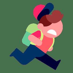 Niño corriendo ilustración