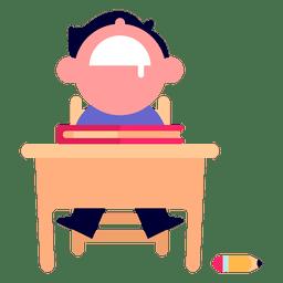 Menino, dormir, ilustração