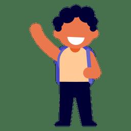 Niño agitando la ilustración