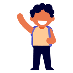 Rapaz acenando ilustração