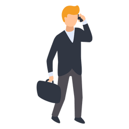 Businessman talking phone illustration