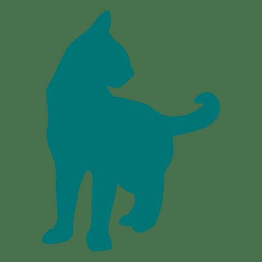 Silhueta do lado do gato baixar png svg transparente for Red transparente para gatos