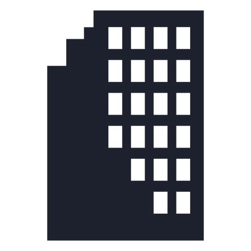 City building silhouette Transparent PNG