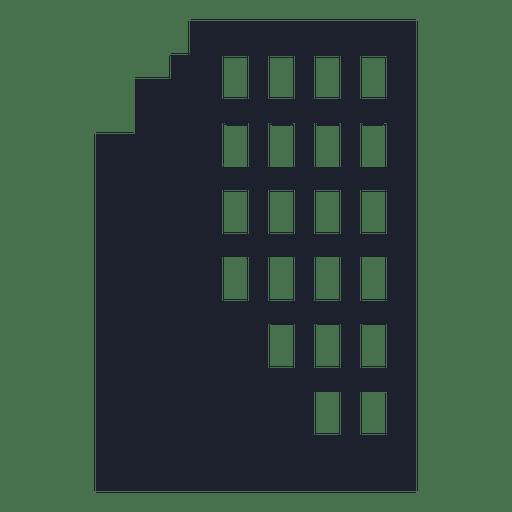 Silueta del edificio de la ciudad Transparent PNG
