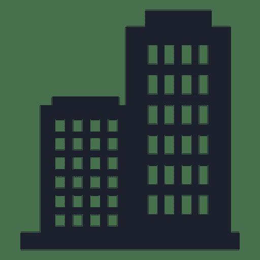 Silueta de edificio de empresa