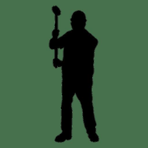 Trabajador de construcción martillo trineo elevar silueta Transparent PNG