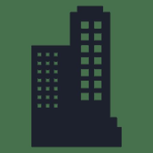 Silhueta de edifício corporativo Transparent PNG