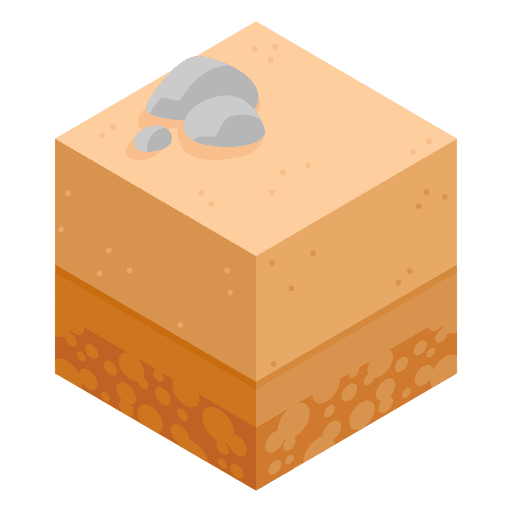 Paisaje isométrico del desierto