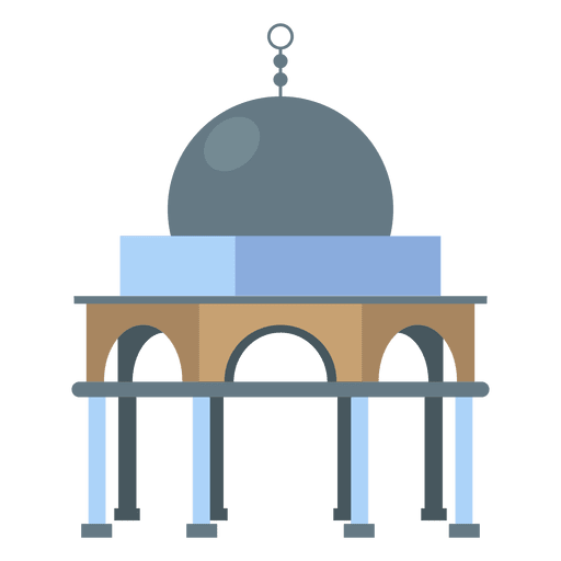 Dome of the rock entrance Transparent PNG