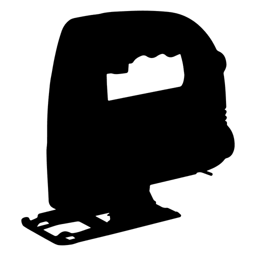 Electric jigsaw silhouette no blade
