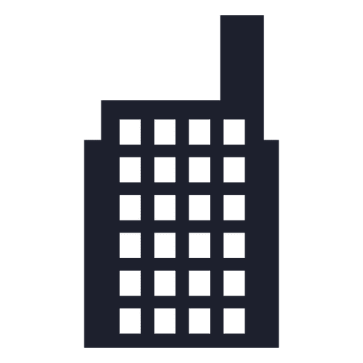 Factory building silhouette Transparent PNG