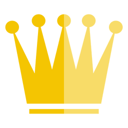 Five point crown icon