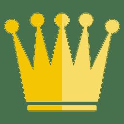 Ícone de coroa de cinco pontos