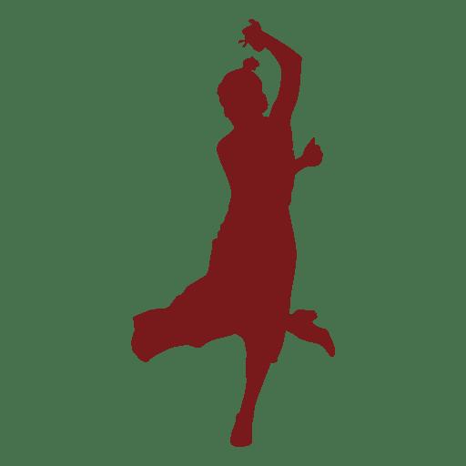 Silueta de baile flamenco Transparent PNG