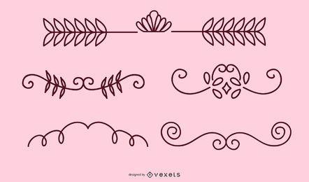 Blumenmuster-Ornamente