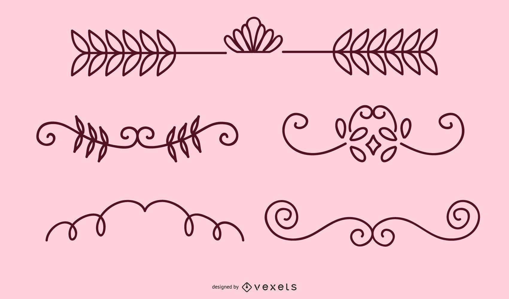 Floral Design Ornaments