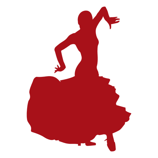 Flamenco dancer arms floating silhouette Transparent PNG