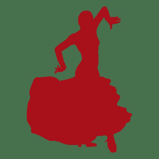 Flamenco dancer arms floating silhouette