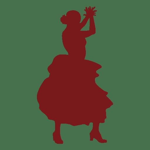 Flamenco bailarín aplaudiendo silueta Transparent PNG