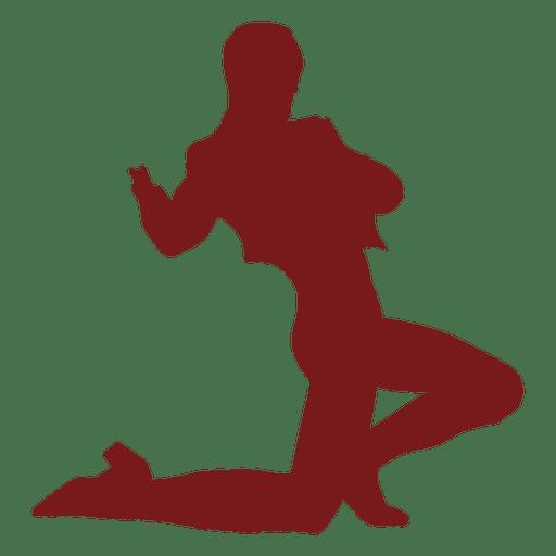 Flamenco bailarín hombre arrodillarse silueta Transparent PNG