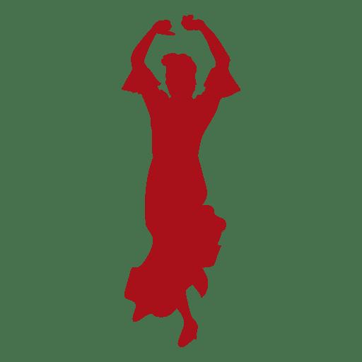 Silueta de bailarina de flamenco Transparent PNG