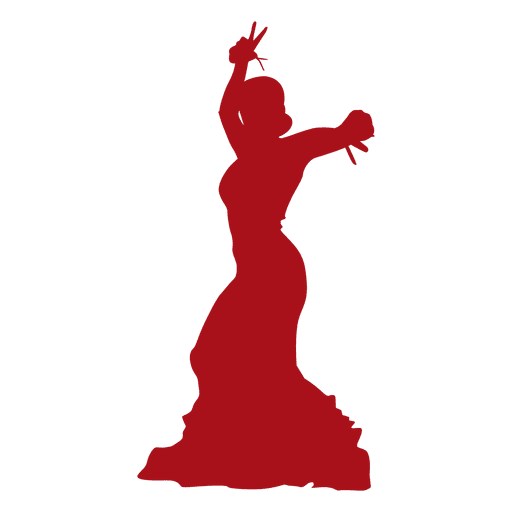 Silueta de bailarina de flamenco 04 Transparent PNG