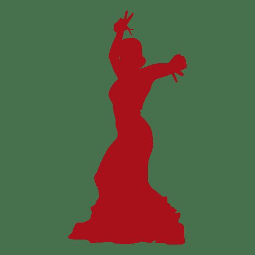 Silueta de bailarina flamenca 04 Transparent PNG