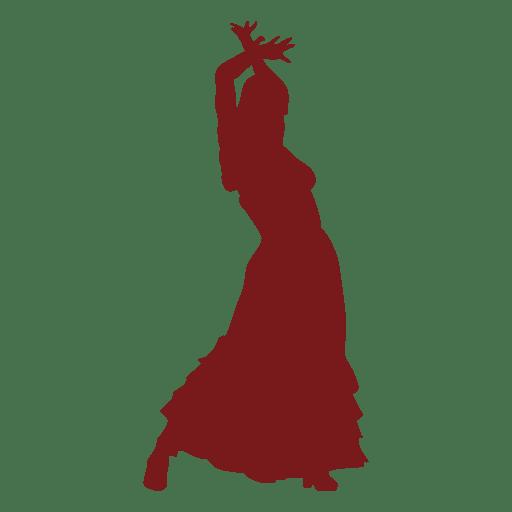 Bailarina de flamenco manos de la mujer hasta la silueta Transparent PNG