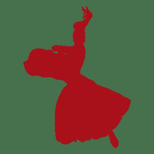 Bailaora flamenca mujer balanceándose silueta Transparent PNG