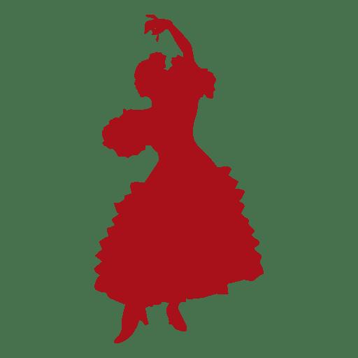 Flamenco bailarina mujer girando silueta Transparent PNG