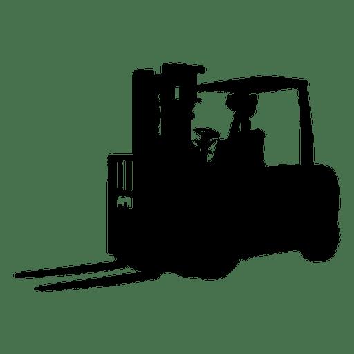 Silueta de carretilla elevadora Transparent PNG