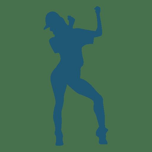 Girl hip hop dancer silhouette