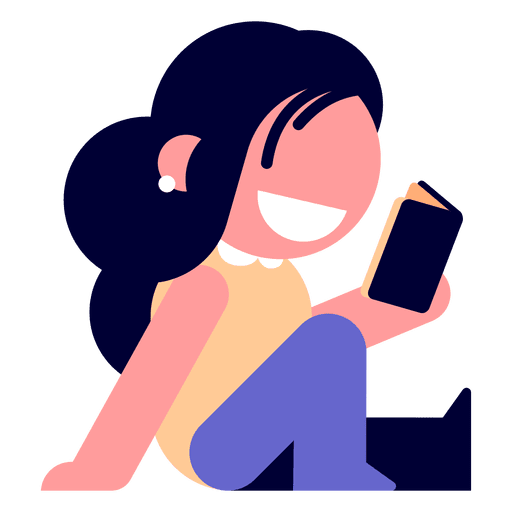 Girl reading diary illustration Transparent PNG
