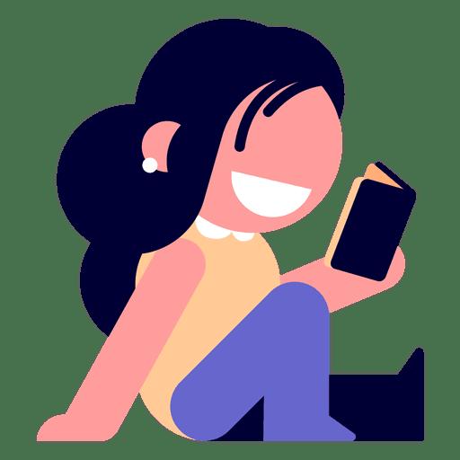 Girl reading diary illustration