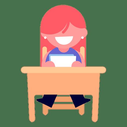 Girl reading illustration Transparent PNG