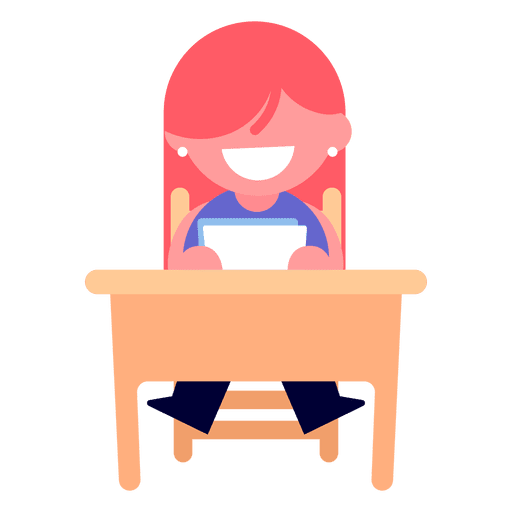 Ilustración de lectura de niña Transparent PNG