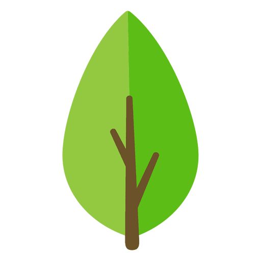 Ilustración de hoja verde